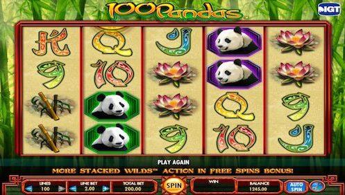 100 pandas tragaperras IGT