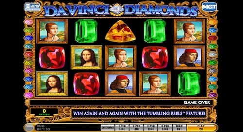 Da Vinci Diamonds tragaperras