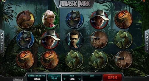 Jurassic Park tragaperras