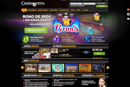 Página inicio Casinoextra
