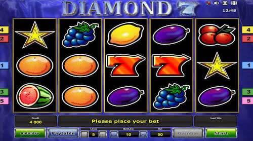 diamond 7 tragaperras novomatic