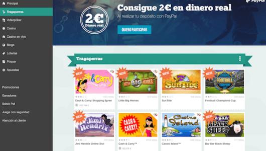 página inicio tragaperras paf casino