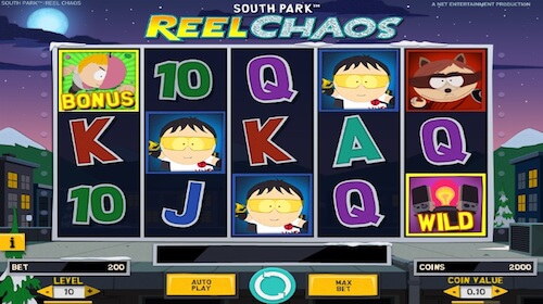 south park reel chaos tragaperras
