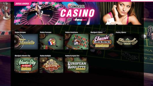 Jugar en casino wanabet